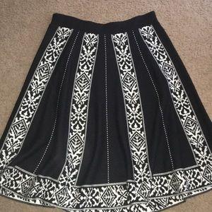 Anthropologie Lapis Sweater Knit Skirt Nordic
